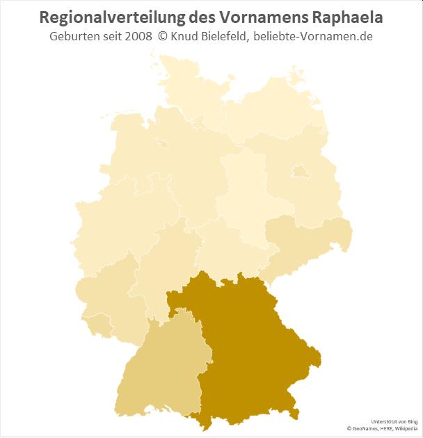 In Bayern ist der Name Raphaela besonders beliebt.