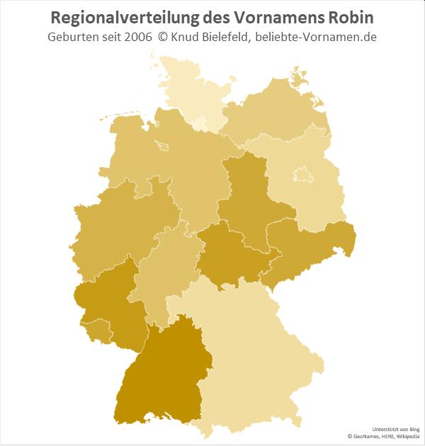 In Baden-Württemberg ist der Name Robin am beliebtesten.