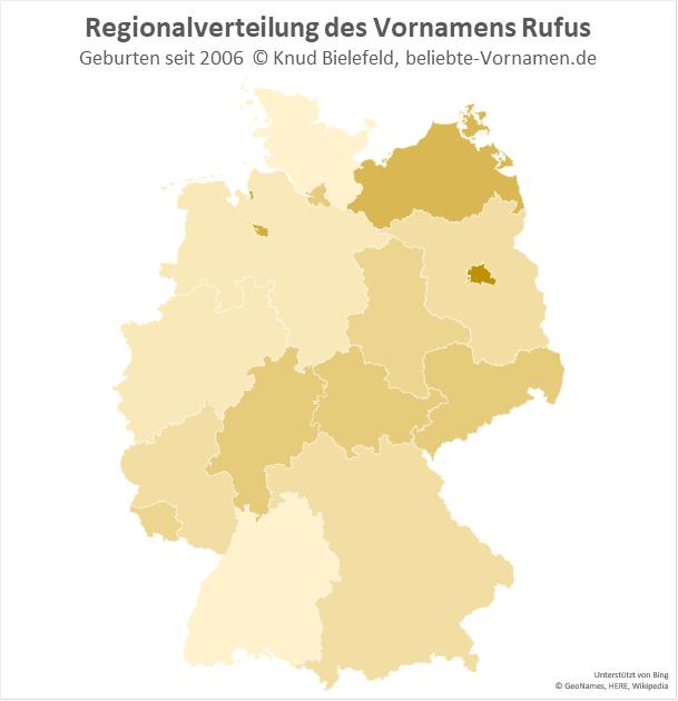 In Berlin ist der Name Rufus besonders beliebt.