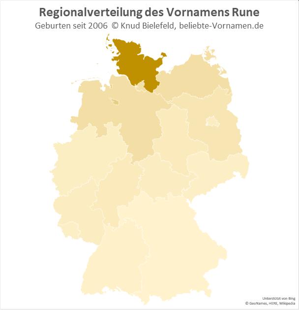Am beliebtesten ist der Name Rune in Schleswig-Holstein.