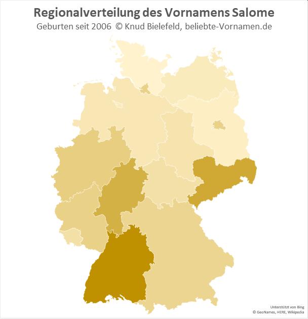 In Baden-Württemberg ist der Name Salome besonders beliebt.
