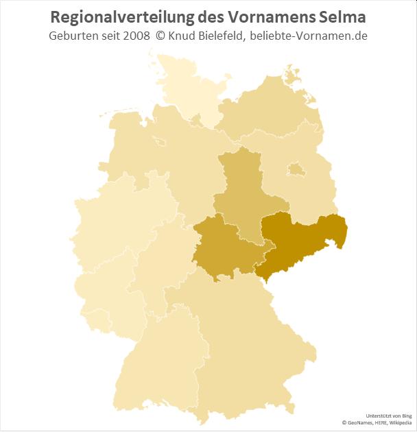 In Sachsen ist der Name Selma besonders beliebt.