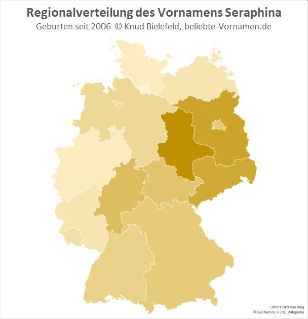 In Sachsen-Anhalt ist der Name Seraphina besonders beliebt.