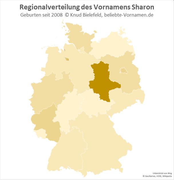 Besonders beliebt ist der Name Sharon in Sachsen-Anhalt.