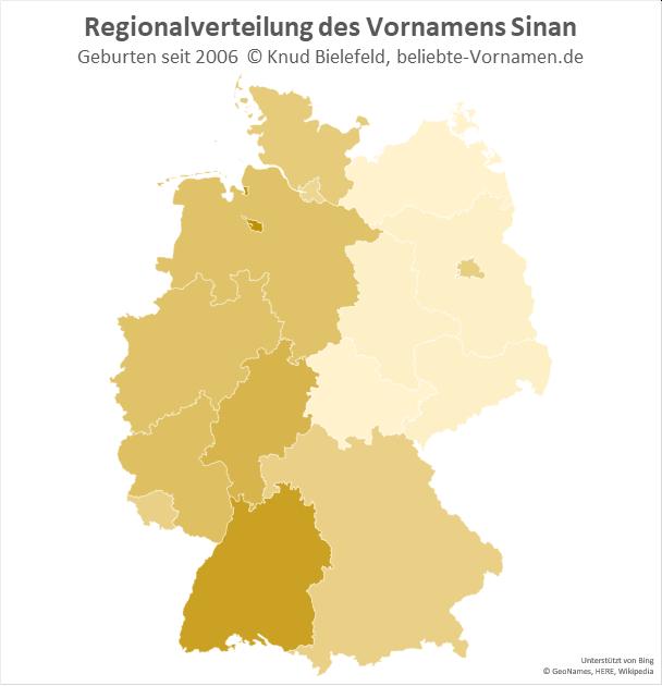 In Bremen und Baden-Württemberg ist der Name Sinan besonders beliebt.