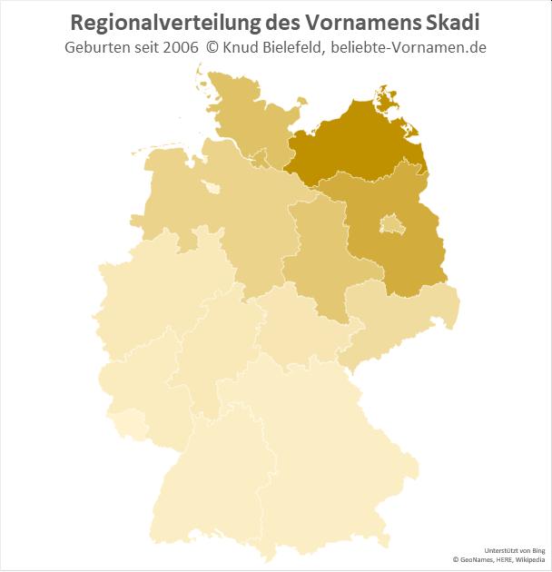 In Mecklenburg-Vorpommern ist der Name Skadi besonders beliebt.