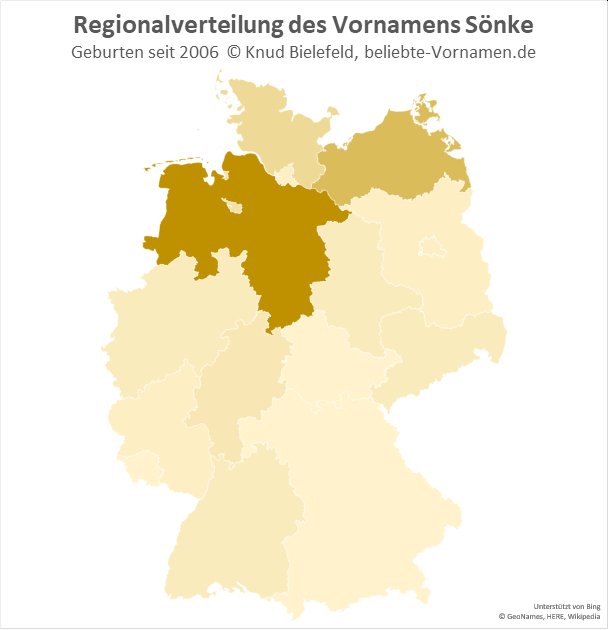 In Niedersachsen ist der Name Sönke besonders beliebt.