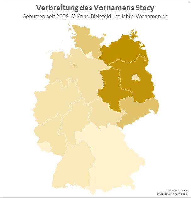 Im Nord-Osten Deutschlands ist der Name Stacy besonders beliebt.