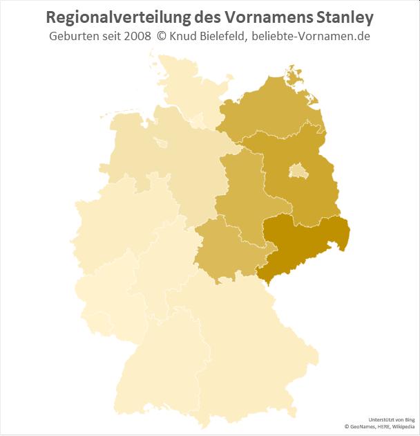 In Sachsen ist der Name Stanley besonders beliebt.