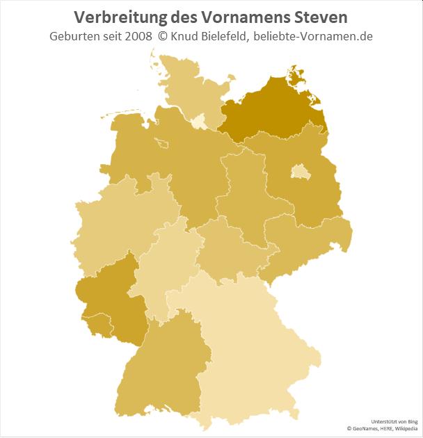 In Mecklenburg-Vorpommern ist der Name Steven besonders beliebt.