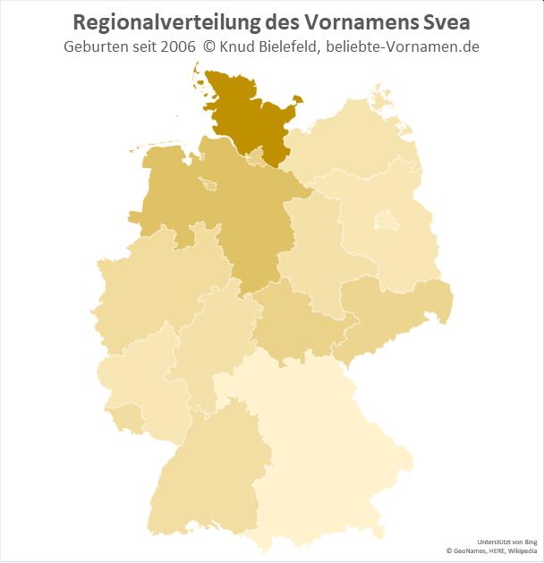 In Schleswig-Holstein ist der Name Svea besonders beliebt.