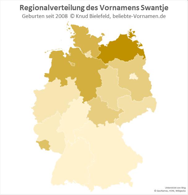 In Mecklenburg-Vorpommern ist der Name Swantje besonders beliebt.