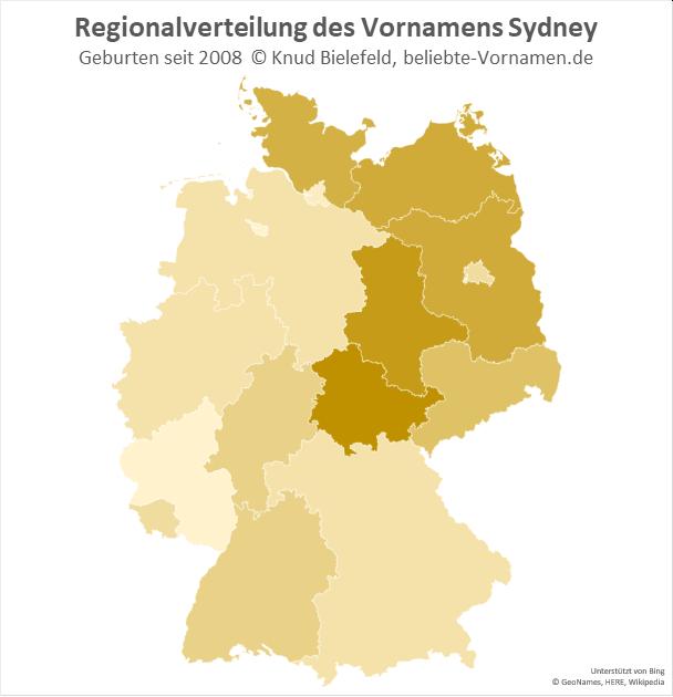 In Thüringen ist der Mädchenname Sydney besonders beliebt.