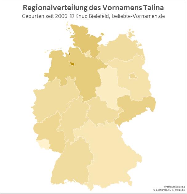 In Bremen ist der Name Talina besonders beliebt.
