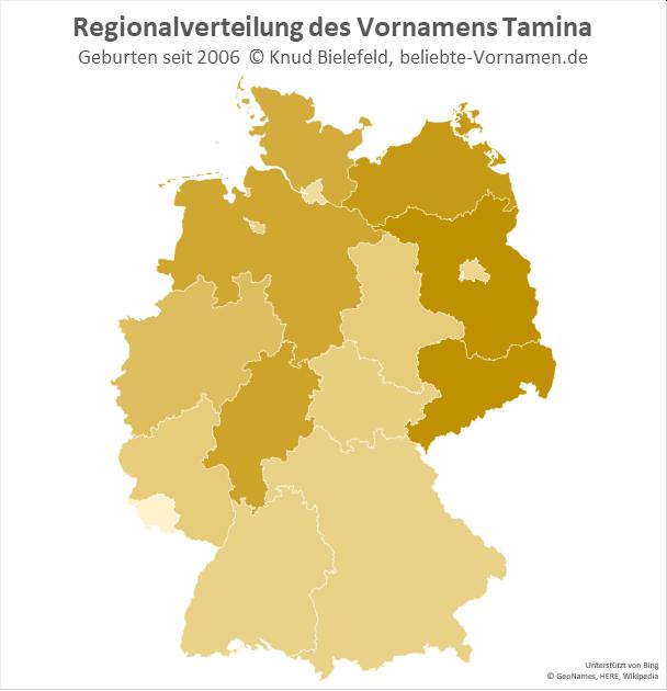 In Brandenburg und Sachsen ist der Name Tamina besonders beliebt.