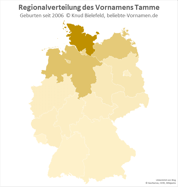 In Schleswig-Holstein ist der Name Tamme besonders beliebt.