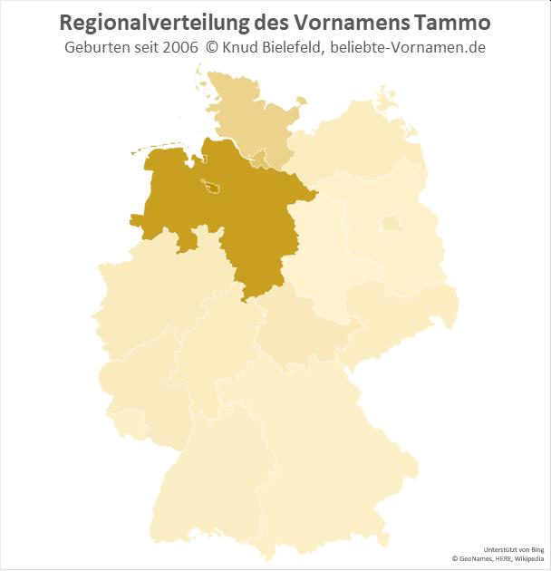 In Bremen und Niedersachsen ist der Name Tammo besonders populär.
