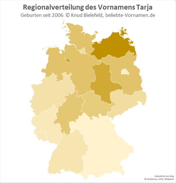 In Bremen und Mecklenburg-Vorpommern ist der Name Tarja besonders beliebt.