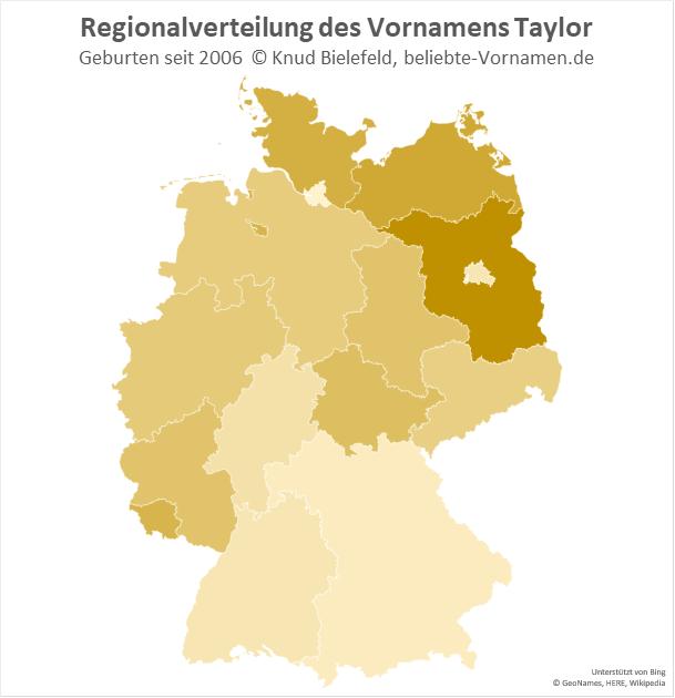 In Brandenburg ist der Name Taylor besonders beliebt.
