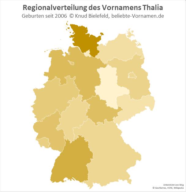 In Schleswig-Holstein ist der Name Thalia besonders beliebt.