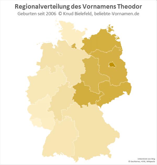 In Berlin ist der Name Theodor besonders beliebt.