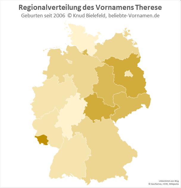 Im Saarland ist der Name Therese besonders beliebt.