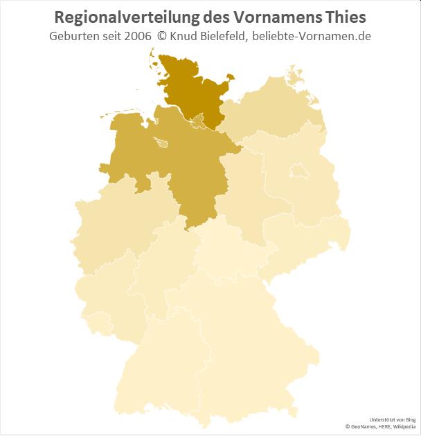 In Schleswig-Holstein ist der Name Thies am beliebtesten.