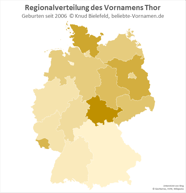 In Thüringen ist der Name Thor besonders beliebt.