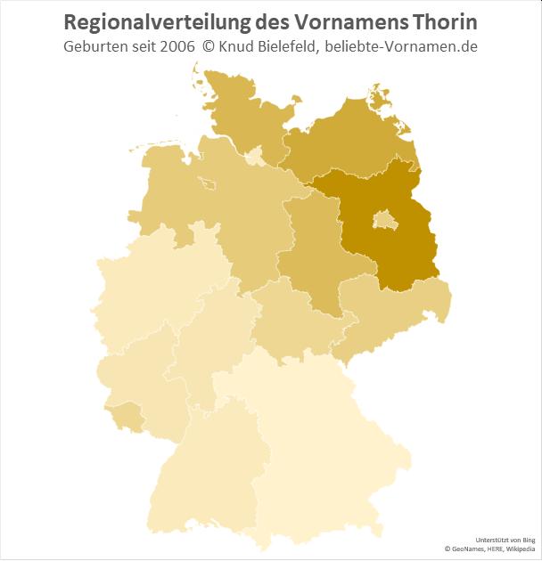 In Brandenburg ist der Name Thorin besonders beliebt.