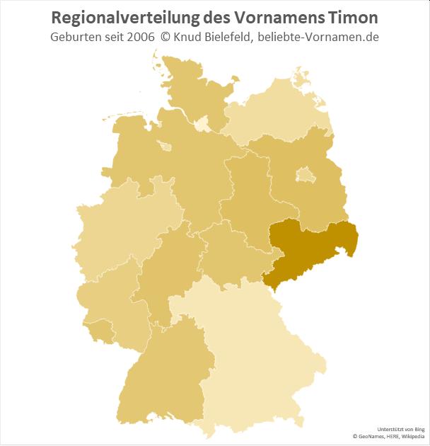 In Sachsen ist der Name Timon besonders beliebt.