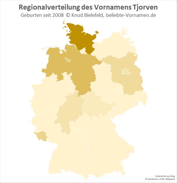 Am beliebtesten ist der Jungenname Tjorven in Schleswig-Holstein.