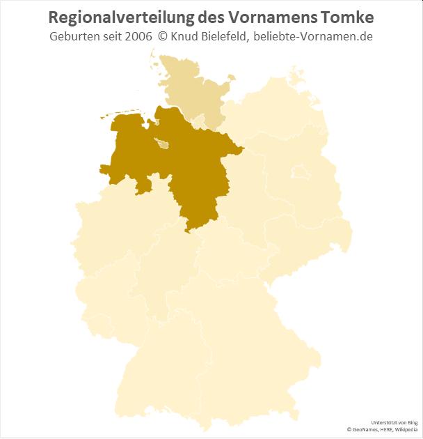 Der Name Tomke ist in Niedersachsen besonders beliebt.