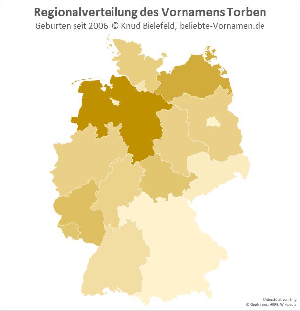 In Niedersachsen ist der Name Torben besonders beliebt.