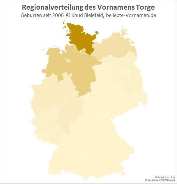 In Schleswig-Holstein ist der Name Torge besonders beliebt.