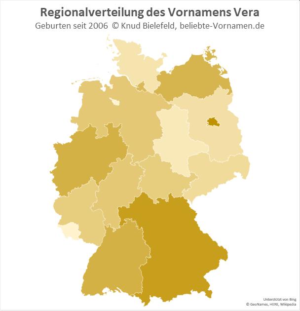 In Berlin und in Bayern ist der Name Vera am beliebtesten.