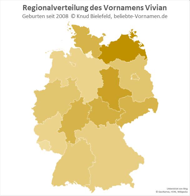 In Mecklenburg-Vorpommern ist der Name Vivian besonders beliebt.
