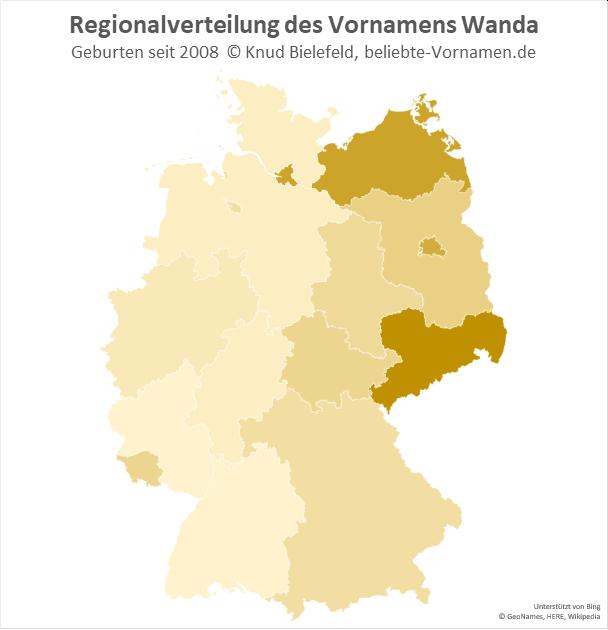 In Sachsen ist der Name Wanda am beliebtesten.
