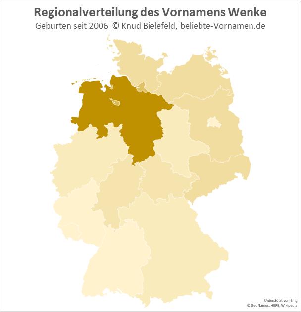 In Niedersachsen ist der Name Wenke besonders beliebt.