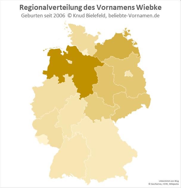 In Niedersachsen ist der Name Wiebke besonders beliebt.