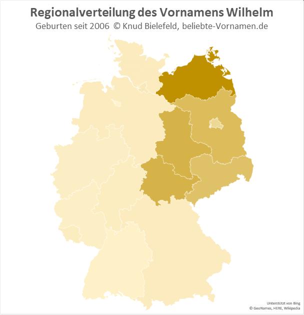 In Mecklenburg-Vorpommern ist der Name Wilhelm besonders beliebt.