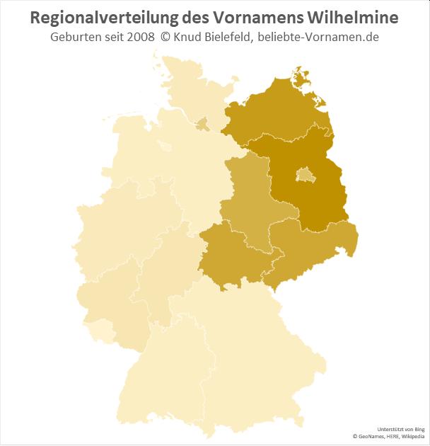 Am beliebtesten ist der Name Wilhelmine in Brandenburg.