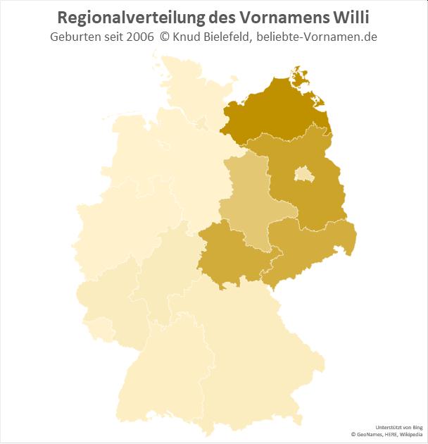 In Mecklenburg-Vorpommern ist der Name WIlli besonders beliebt.