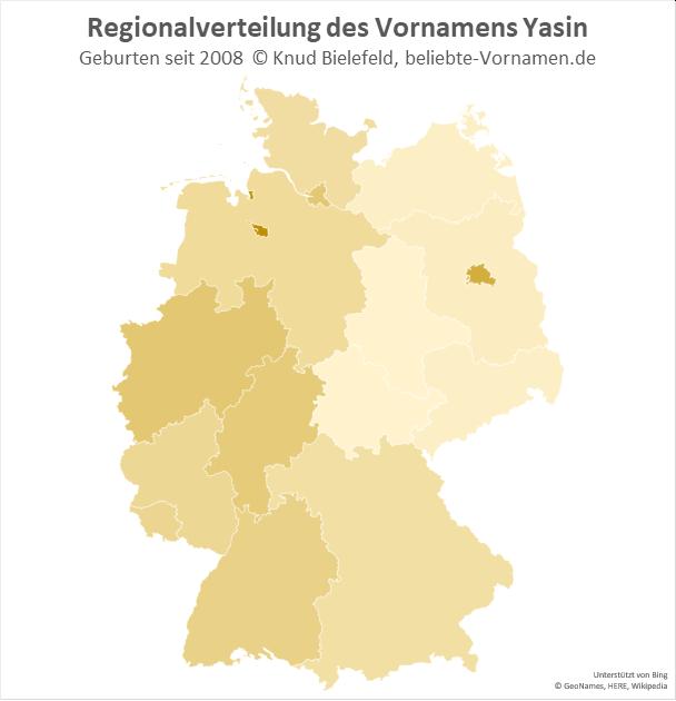 Besonders beliebt ist der Name Yasin in Berlin und Bremen.