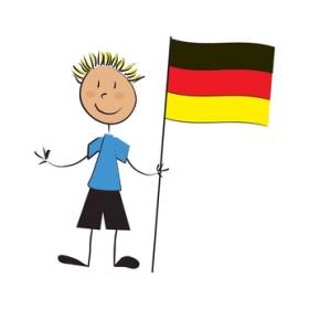 Kind trägt Deutschland-Fahne © Pétrouche - Fotolia.com