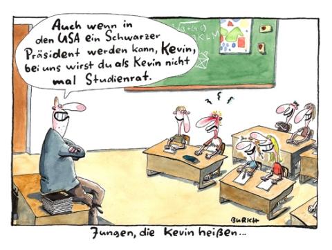 Jungen, die Kevin heißen. Cartoon: BURKH